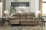 Dunwell Driftwood Power Reclining Sofa with Adjustable Headrest