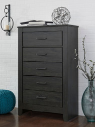 Brinxton Black Five Drawer Chest