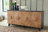 Robin Ridge Two-tone Brown Door Accent Cabinet
