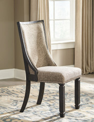 Tyler Creek Black/Gray Dining UPH Side Chair