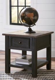 Tyler Creek Grayish Brown/Black Rectangular End Table