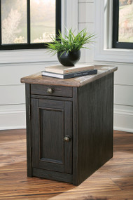 Tyler Creek Grayish Brown/Black Chair Side End Table