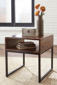 Hirvanton Warm Brown Rectangular End Table