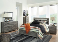 Cazenfeld Black/Gray 5 Pc.Queen Panel Bedroom Collection