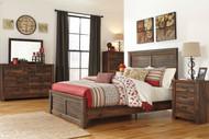 Quinden Dark Brown 6 Pc. Queen Bedroom Collection