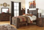Quinden Dark Brown 6 Pc.Queen Poster Bedroom Collection