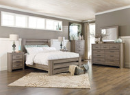 Zelen Warm Gray 7 Pc. Queen Panel Bedroom Collection