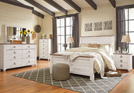 Willowton Whitewash 6 Pc. Queen Bedroom Collection