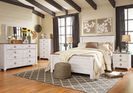 Willowton Whitewash 8 Pc. Queen Bedroom Collection