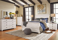 Willowton Whitewash 6 Pc. Queen Sleigh Bedroom Collection
