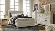 Bellaby Whitewash 8 Pc. Dresser, Mirror, Chest, Queen Panel Bed & 2 Nightstands