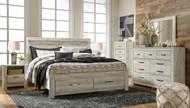 Bellaby Whitewash 7 Pc. Dresser, Mirror, Chest & King Panel Storage Bed