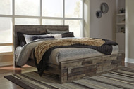 Derekson Multi Gray King Storage Footboard Bed