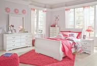 Anarasia White 6 Pc. Kids Full Bedroom Collection