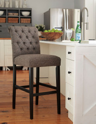 Tripton Graphite Tall Upholstered Barstool
