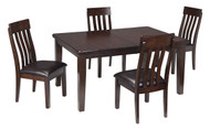 Haddigan Dark Brown 5 Pc. Rectangular Extension Dining Set