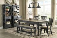 Tyler Creek Black/Gray 8 Pc Rectangular Dining Set