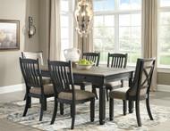 Tyler Creek Black/Gray 7 Pc Rectangular Dining Set