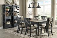 Tyler Creek Black/Gray 9 Pc. Rectangular Dining Set