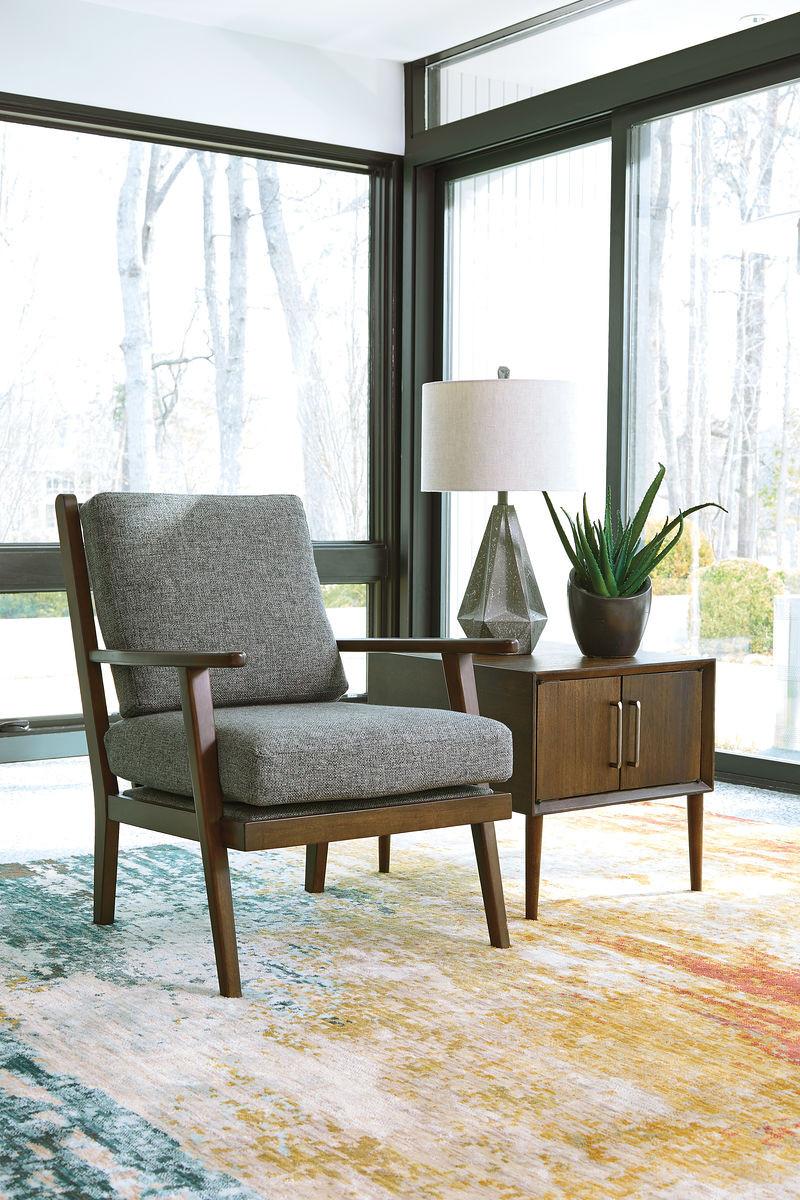 . Zardoni Charcoal Accent Chair