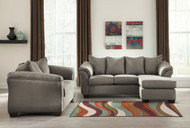 Darcy Cobblestone Sofa Chaise & Loveseat