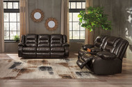 Vacherie Chocolate Reclining Sofa & Double Reclining Loveseat