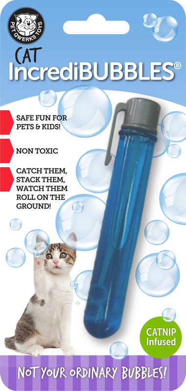 Long lasting bubbles for pets to chase and pop!