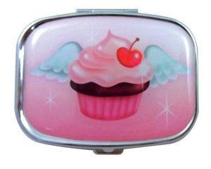 Cupcake Heaven - Pill Box art designed by L.A. Artist, Claudette Barjoud