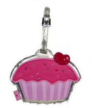 Cupcake Cherry Pink Sprinkles Luggage Tag