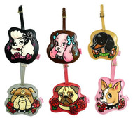 Tattoo Pooch Luggage ID Tag Pug Poodle Dachshund Cocker Bull Dog Chihuahua FLUFF