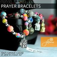 Prayer Box Bracelet JILZARA Polymer Clay Beads Faith Cross Angel Charm Pink Lime