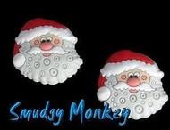 Two Santa Jibbitz.  Get your Crocs ready for Christmas!