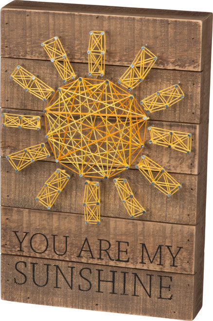 You Are My Sunshine String Art Wooden Box Sign