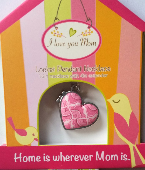 Jilzarah's Pink Canary Locket Necklace - The perfect gift for Mom on Mother's Day, Birthday or Just Because She's Awesome!