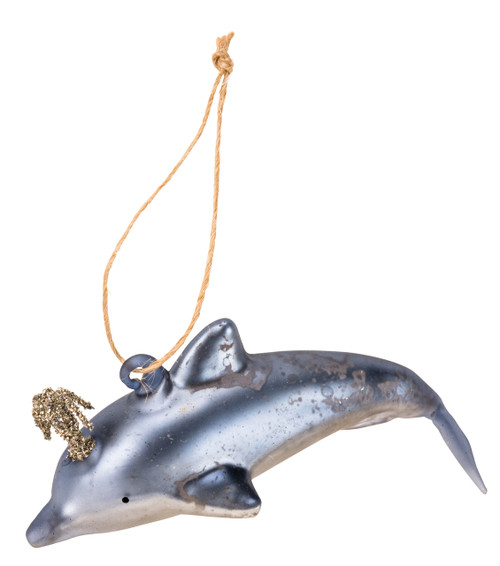 Primitives By Kathy Blue Spouting Dolphin Christmas Ornament Item # 35382