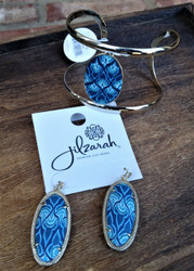 Jilzarah's Marina Blue 2 piece gift set comes with free gift boxes