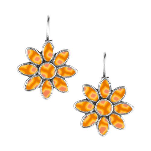 Phoenix flower earrings.  Jilzarah's brilliant new design in yellow and orange.