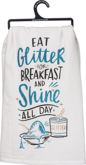 New Design from LOL, Primitives By Kathy Glitter Dish Towels. Glitter does not transfer.