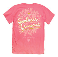 Coral Pink With Glittery Gold Accents - Goodness Gracious! Itsa Girl Thing!