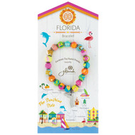 Hand-rolled Clay Beaded Dahli Resort Bracelet - Florida Comes with a free gift bag and free shipping.  It doesn't get any easier than that!
