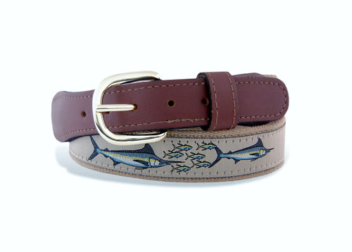 Zep-Pro is a manufacturer of fine leather belts in the USA .  Marlin neutral buff from the Ribbon Belt Collection.
