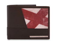 Alabama Vintage State Flag Bi-fold Wallet. Zep-Pro is a manufacturer of fine leather belts in the USA.