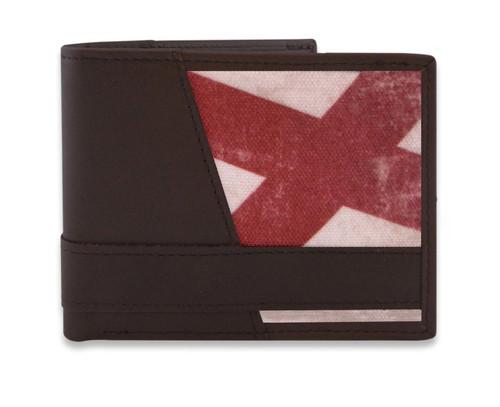 Alabama Vintage State Flag Bi-fold Wallet. Zep-Pro is a manufacturer of fine leather belts in the USA.