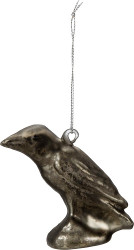 Glass Black Crow Ornament from Primitives By Kathy perfect for your urban farmhouse decor