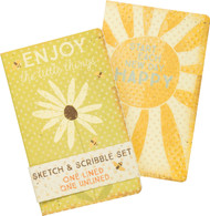 Sketch & Scribble Set of 2 - Enjoy the Little Things; Start Each New Day Happy
