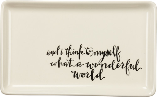 """""""and I Think To Myself What A Wonderful World"""" ... trinket tray for your favorite 'lil treasures"""