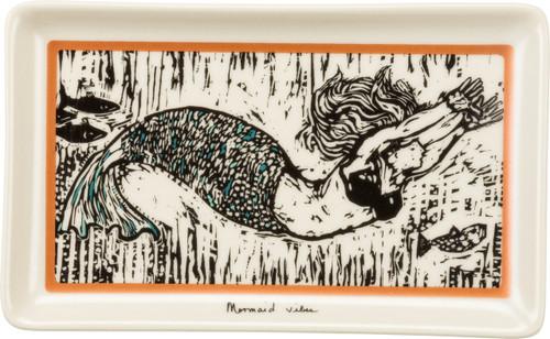 Mermaid Vibes Trinket Tray featuring original artwork of Robert  Patierno UPC 883504352055