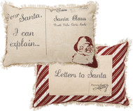 Letters to Santa Pillow: Dear Santa, I Can Explain... Has pocket on reverse side for letters and lists!