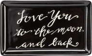 Convenient and classic. This functional trinket tray reminds them of your love while keeping their trinkets contained.