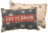 Let It Snow - Snowflakes Throw Pillow